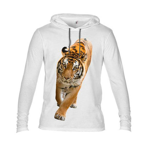 NEW! WHITE LIGHTWEIGHT TIGER HOOD