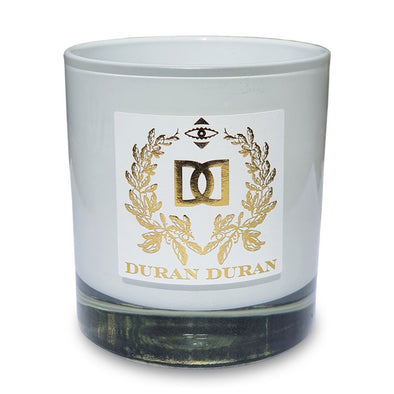 NEW! -  WHITE  GOLD CREST SUMMER CANDLE