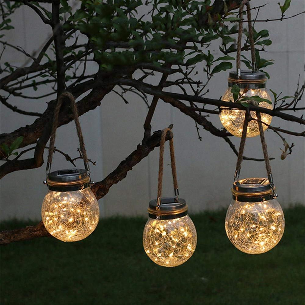 LED Solar Fairy Light Powered Mason Jar Lights for Outdoor Patio Party Wedding Garden Courtyard Decorative Led Lamps