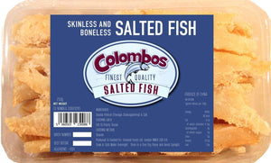 Colombos Finest Quality Skinless & Boneless Salted Fish 250g