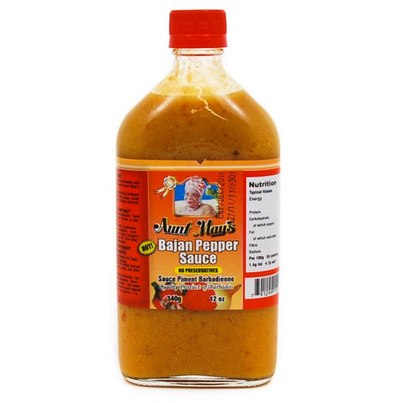 Aunt May Bajan Pepper Sauce 340g