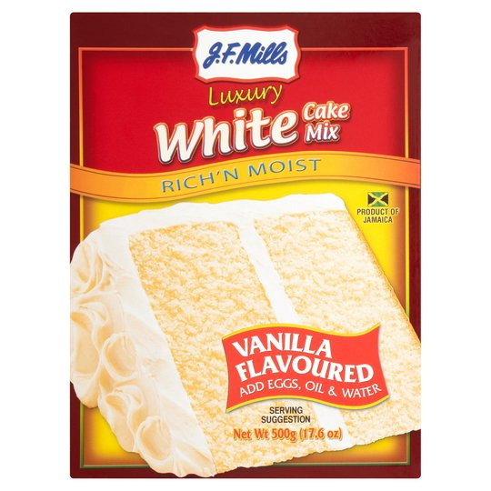 JF Mills White Luxury Cake Mix