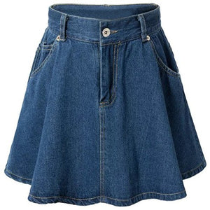 Material: Polyester  Fabric Type: Denim  Length: Mini  Silhouette: A-Line  Pattern Type: Solid  Embellishment: Zippers  Season: Summer  Weight: 0.370kg  Package Contents: 1 x Skirt