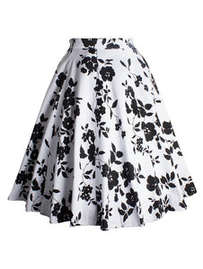 Material: Polyester  Length: Knee-Length  Silhouette: Ball Gown  Pattern Type: Floral  Season: Summer  With Belt: No  Weight: 0.234kg  Package Contents:  1 x Skirt