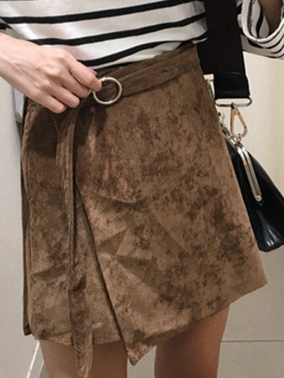 Material: Cotton Blends  Length: Mini  Silhouette: A-Line  Pattern Type: Solid  Season: Fall  Weight: 0.213kg  Package Contents: 1 x Skirt