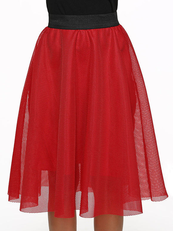 Material: Polyester  Length: Mid-Calf  Silhouette: Ball Gown  Pattern Type: Patchwork  Season: Fall,Spring,Summer  With Belt: No  Weight: 0.289kg  Package Contents: 1 x Skirt