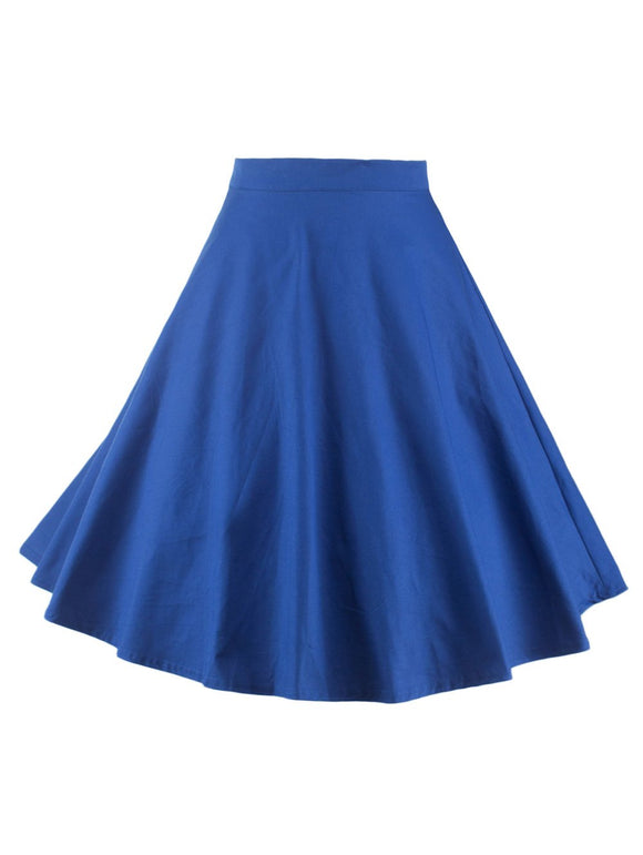 Material: Polyester  Length: Knee-Length  Silhouette: A-Line  Pattern Type: Solid  Season: Fall,Spring  Weight: 0.400kg  Package Contents: 1 x Skirt