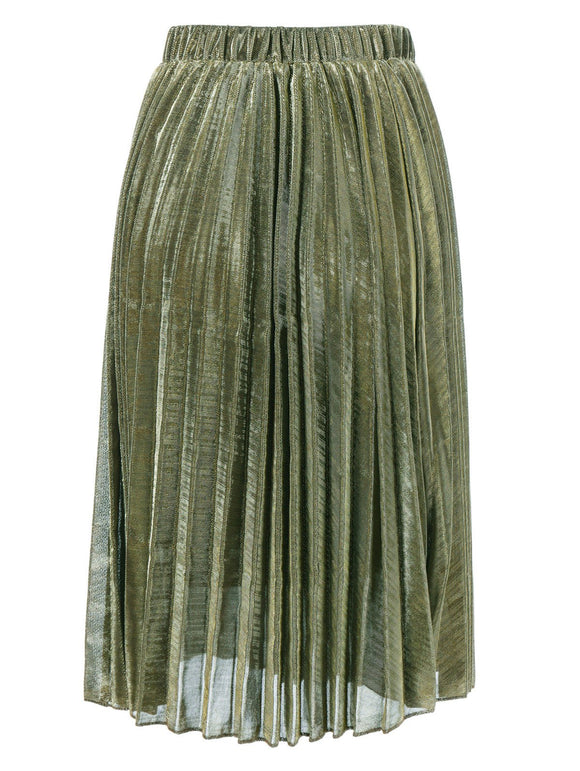 Material: Polyester  Length: Mid-Calf  Silhouette: Pleated  Pattern Type: Solid  Season: Summer  With Belt: No  Weight: 0.370kg  Package Contents: 1 x Skirt
