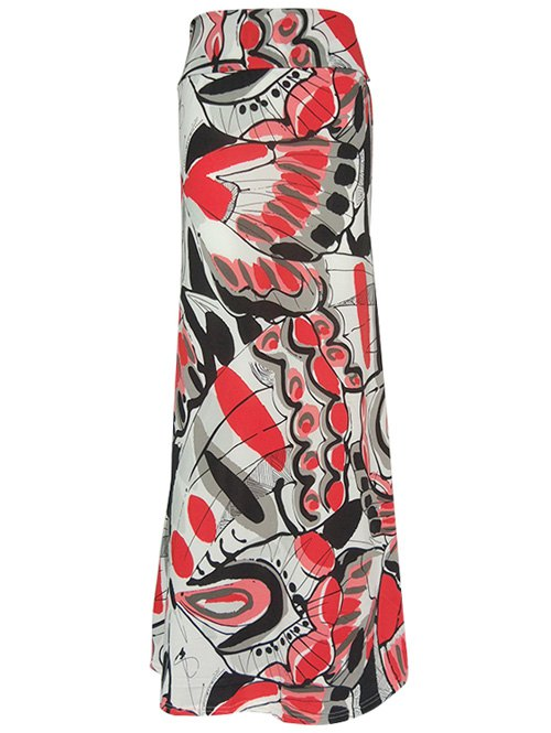 Material: Cotton Blends,Polyester  Length: Floor-Length  Silhouette: Straight  Pattern Type: Print  Season: Fall,Spring,Summer  Elasticity: Elastic  Weight: 0.220kg  Package Contents: 1 x Skirt