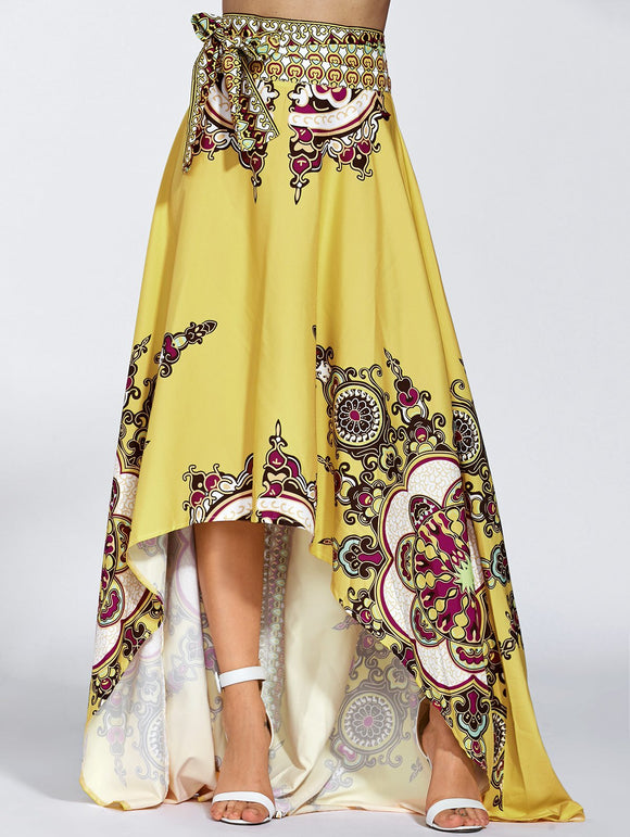 Material: Polyester  Length: Floor-Length  Silhouette: A-Line  Pattern Type: Print  Season: Fall,Spring  Weight: 0.363kg  Package Contents: 1 x Skirt