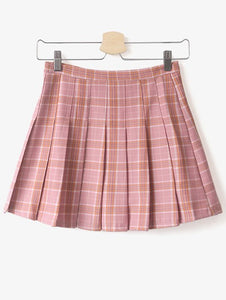 Material: Cotton Blends  Length: Mini  Silhouette: A-Line  Pattern Type: Plaid  Season: Fall  Weight: 0.320kg  Package Contents: 1 x Skirt