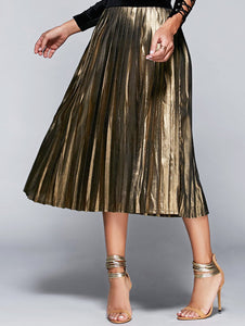 Material: Cotton Blends  Length: Mid-Calf  Silhouette: A-Line  Pattern Type: Solid  Season: Fall,Spring,Summer  Weight: 0.259kg  Package Contents: 1 x Skirt