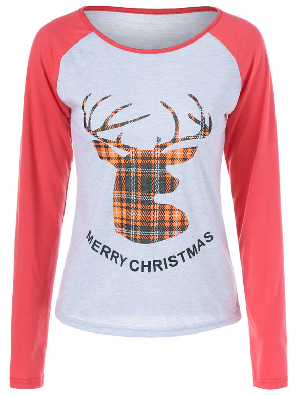 Merry Christmas Fawn Printed T Shirt