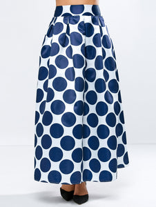 Material: Polyester  Length: Ankle-Length  Silhouette: A-Line  Pattern Type: Polka Dot  Season: Fall  Weight: 0.290kg  Package Contents: 1 x Skirt