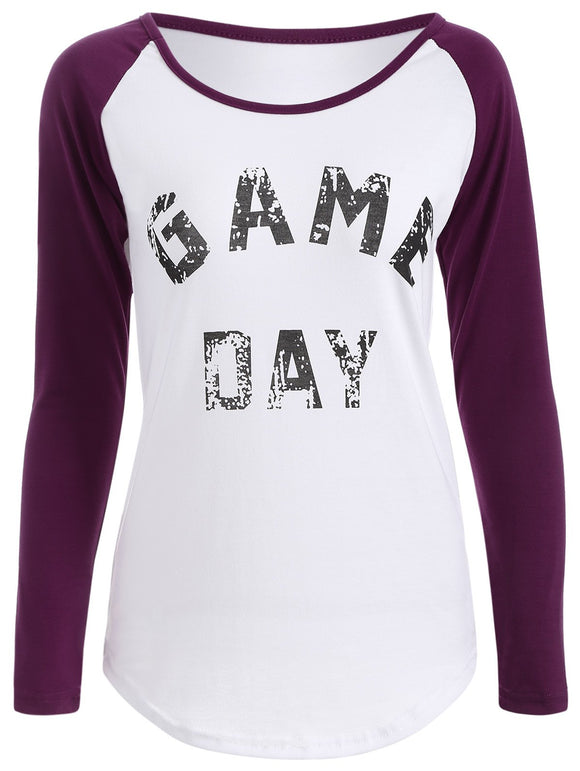 Game Day Print Baseball T-Shirt