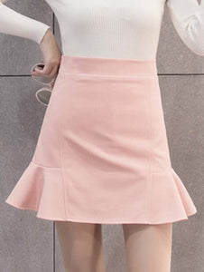 Material: Polyester  Length: Mini  Silhouette: Trumpet/Mermaid  Pattern Type: Solid  Season: Fall,Spring,Winter  Weight: 0.470kg  Package Contents: 1 x Skirt