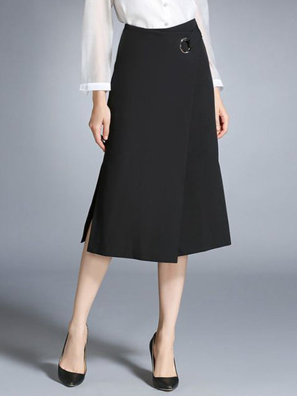 Material: Polyester  Length: Mid-Calf  Silhouette: A-Line  Pattern Type: Solid  Season: Fall,Spring,Winter  Weight: 0.470kg  Package Contents: 1 x Skirt