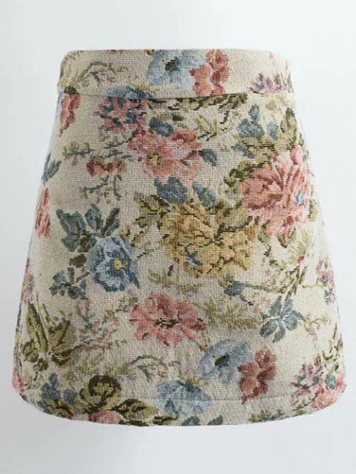 Material: Cotton,Polyester  Length: Mini  Silhouette: A-Line  Pattern Type: Floral  Season: Fall,Spring,Winter  Weight: 0.320kg  Package Contents: 1 x Skirt