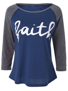 Faith Raglan Baseball Tee