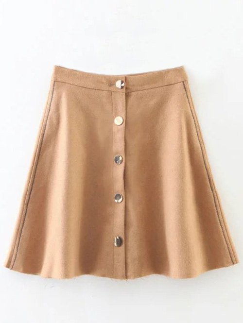 Material: Acrylic,Cotton,Polyester  Length: Mini  Silhouette: A-Line  Pattern Type: Solid  Season: Fall,Spring,Winter  Weight: 0.320kg  Package Contents: 1 x Skirt