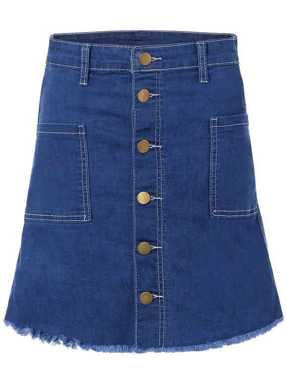 Material: Jeans  Length: Mini  Silhouette: Bodycon  Pattern Type: Solid  Embellishment: Pockets  Season: Fall,Spring,Summer,Winter  Weight: 0.470kg  Package Contents: 1 x Skirt