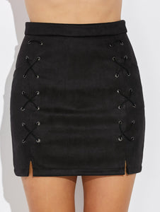 Material: Polyester  Length: Mini  Silhouette: Pencil  Pattern Type: Solid  Embellishment: Criss-Cross  Season: Fall,Spring,Summer,Winter  Elasticity: Elastic  With Belt: No  Weight: 0.320kg  Package Contents: 1 x Skirt