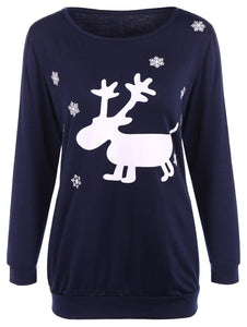 Christmas Fawn Patterned Tee