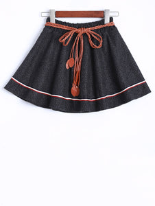 Material: Polyester  Length: Mini  Silhouette: A-Line  Pattern Type: Others  Season: Fall,Winter  With Belt: No  Weight: 0.370kg  Package Contents: 1 x Skirt