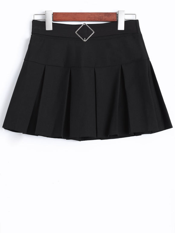 Material: Polyester  Length: Mini  Silhouette: A-Line  Pattern Type: Solid  Season: Fall,Winter  With Belt: No  Weight: 0.370kg  Package Contents: 1 x Skirt