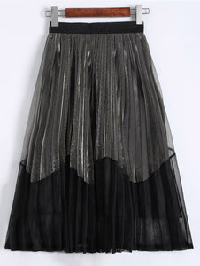 Material: Polyester  Length: Mid-Calf  Silhouette: Pleated  Pattern Type: Others  Season: Fall  Weight: 0.300kg  Package Contents: 1 x Skirt