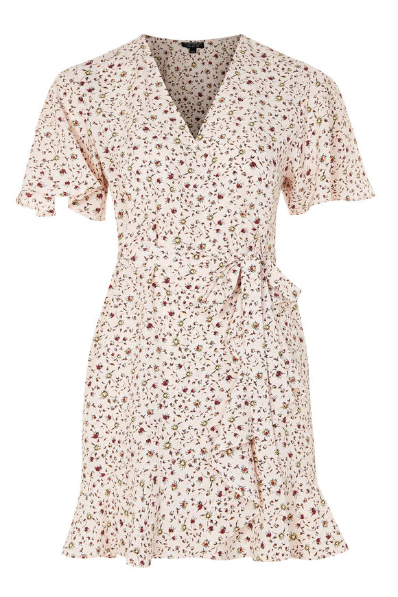 Daisy Print Ruffle Tea Dress