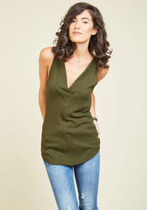 Everyday Upgrade Tank Top in Thyme