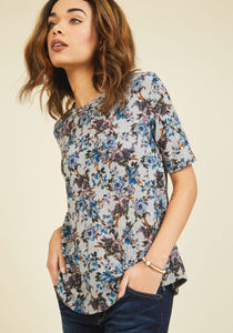 Game Night Guests Floral Top in Blooms