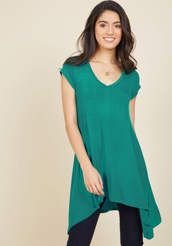 A Crush on Casual Tunic in Robin's Egg