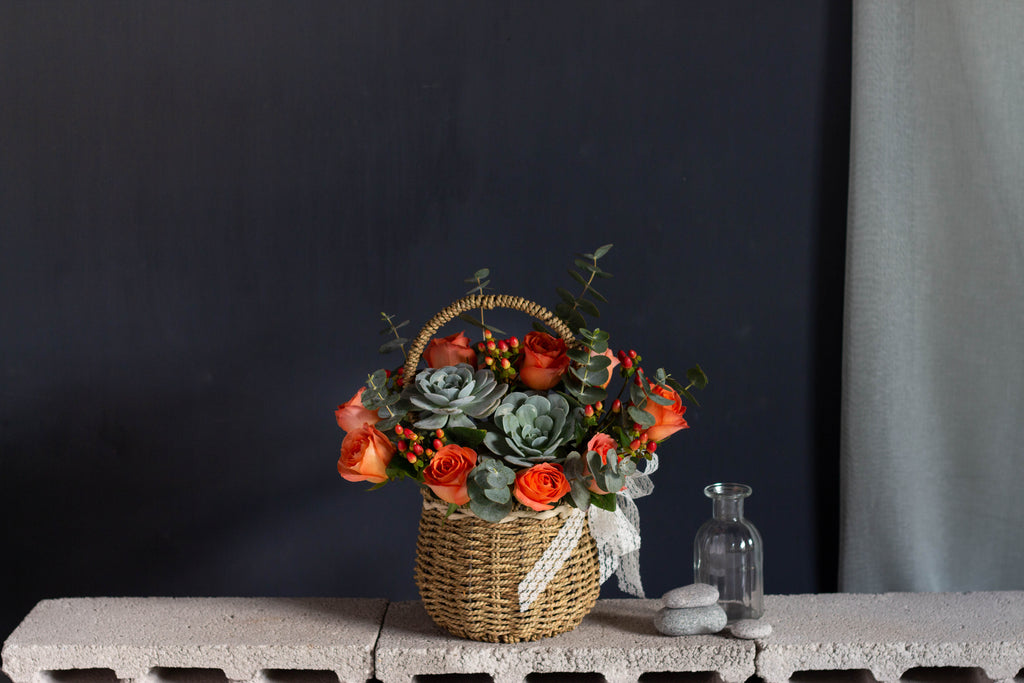 Vintage Orange Basket