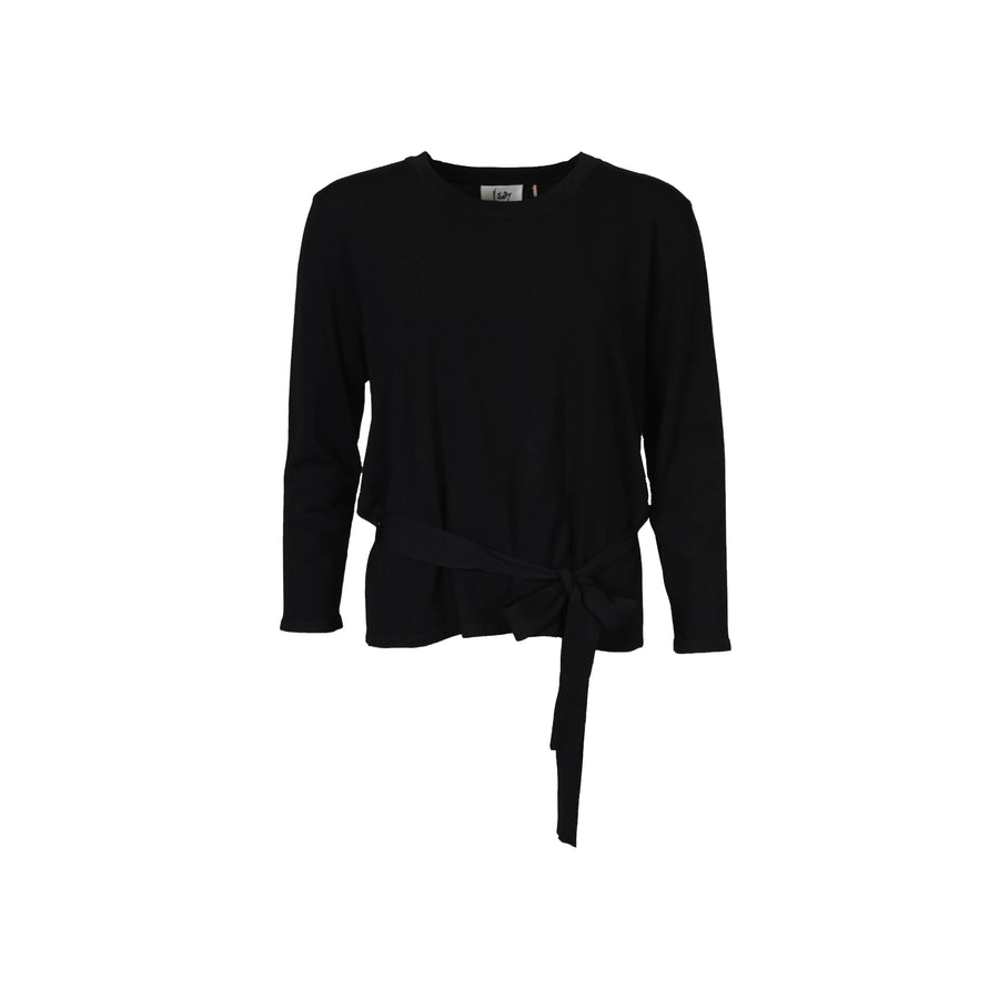 Jena Wrap Knit - Black