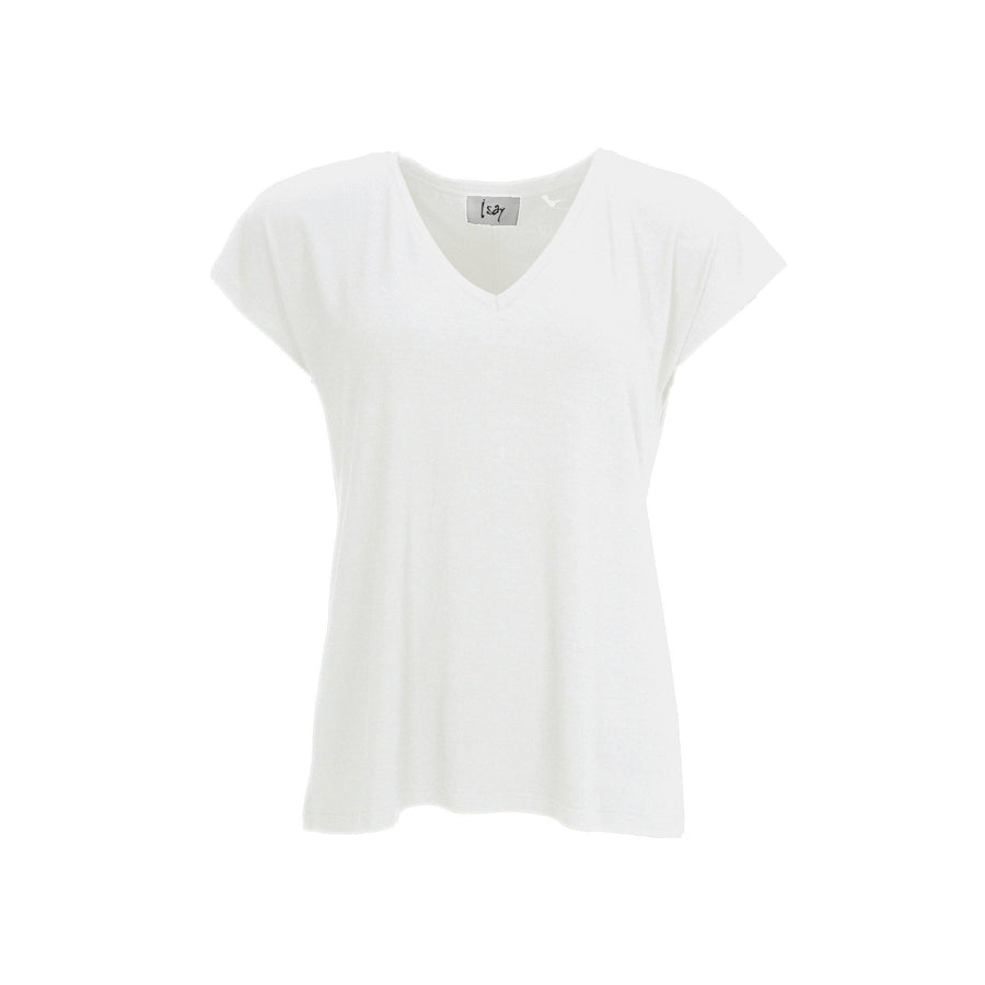 Louis V-Neck T-Shirt - Broken White
