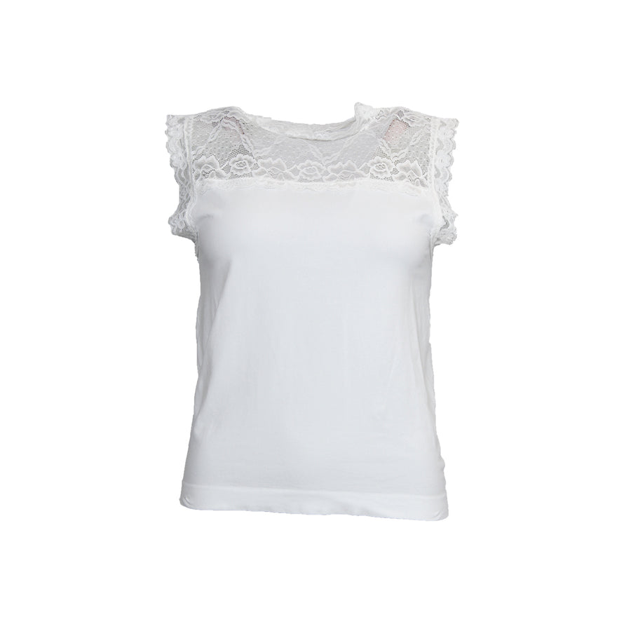 Nilla Highneck Top - Broken White