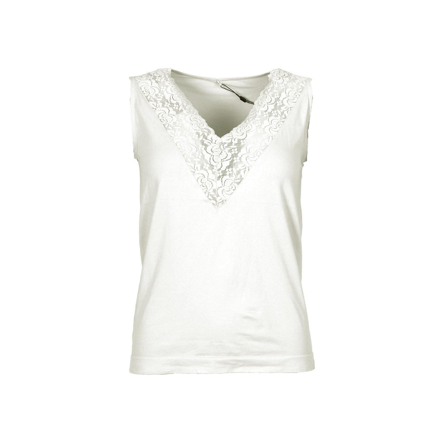 Nilla V-Neck Top - Broken White