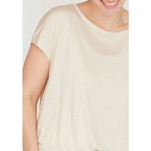 Nugga Viscose T-Shirt - Sand