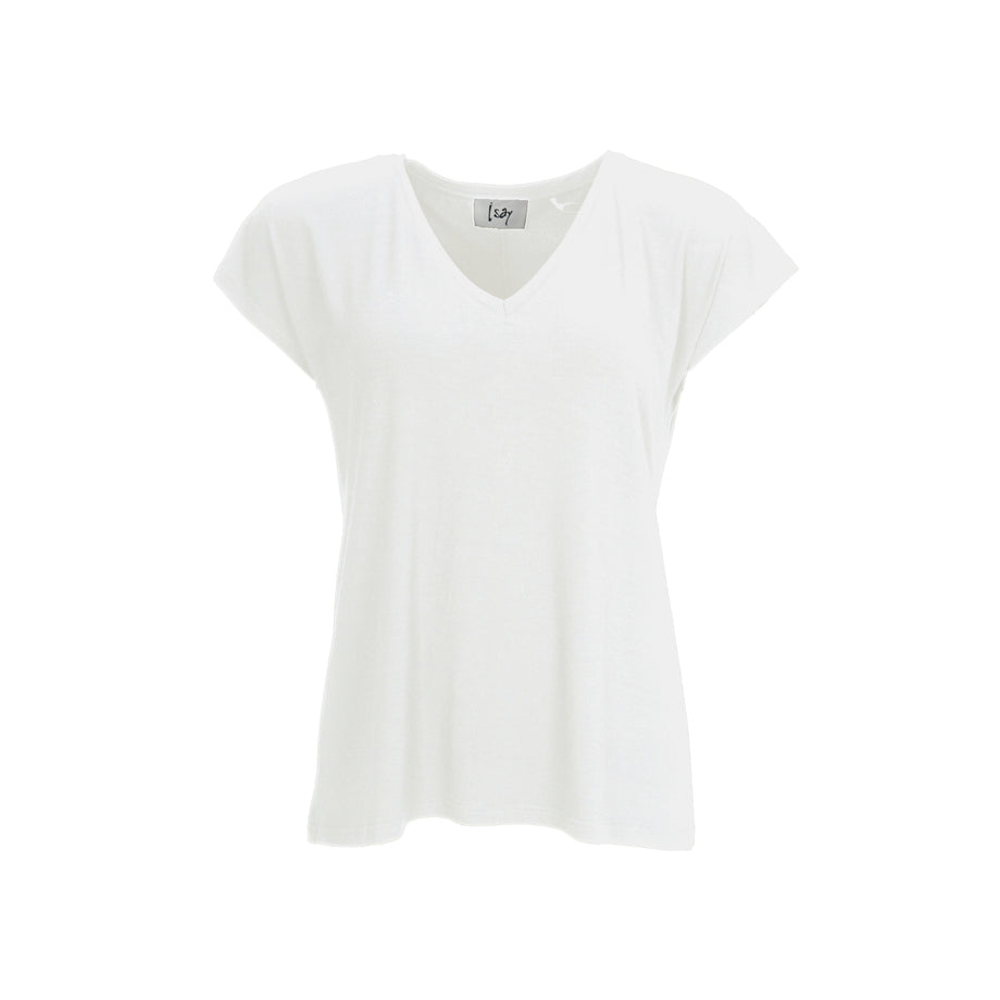 Isay Louis V-Neck T-Shirt T-Shirts 101 Broken White