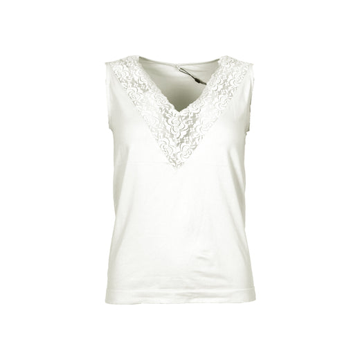 Isay Nilla V-Neck Top Tops 101 Broken White