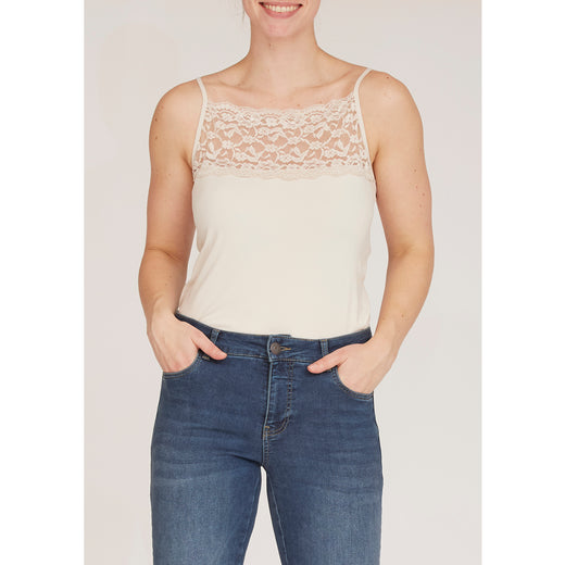 Isay Nilla Wide Lace Top Tops 112 Sand