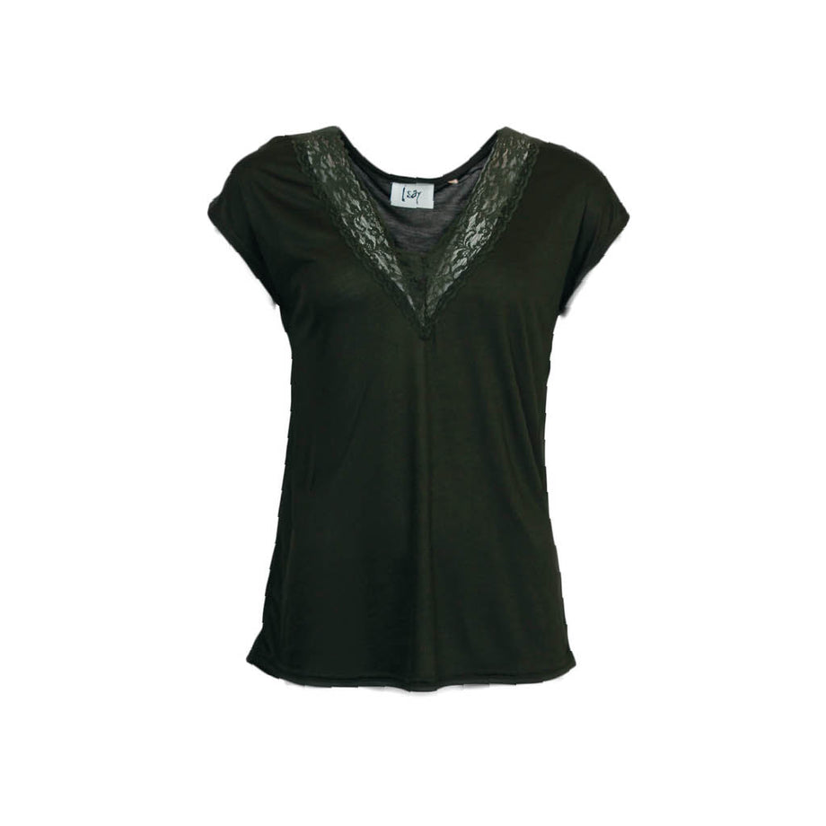Isay Nugga Lace T-Shirt T-Shirts 828 Army green