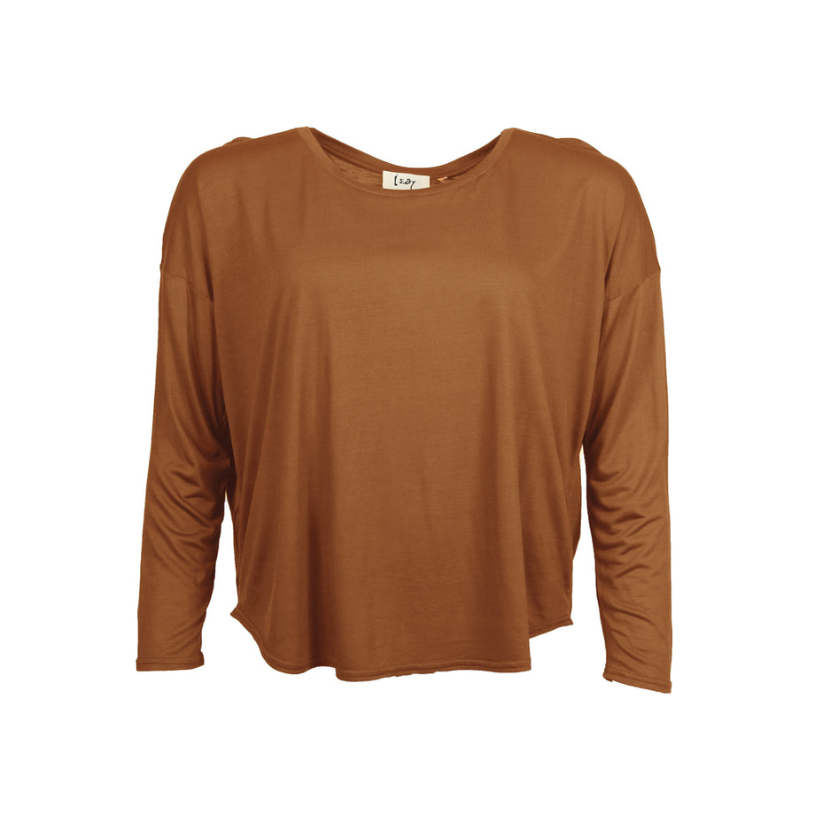 Isay Nugga O-Neck Blouse T-Shirts 140 Warm Camel