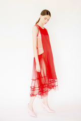 Agnes Tulle Dress - Red
