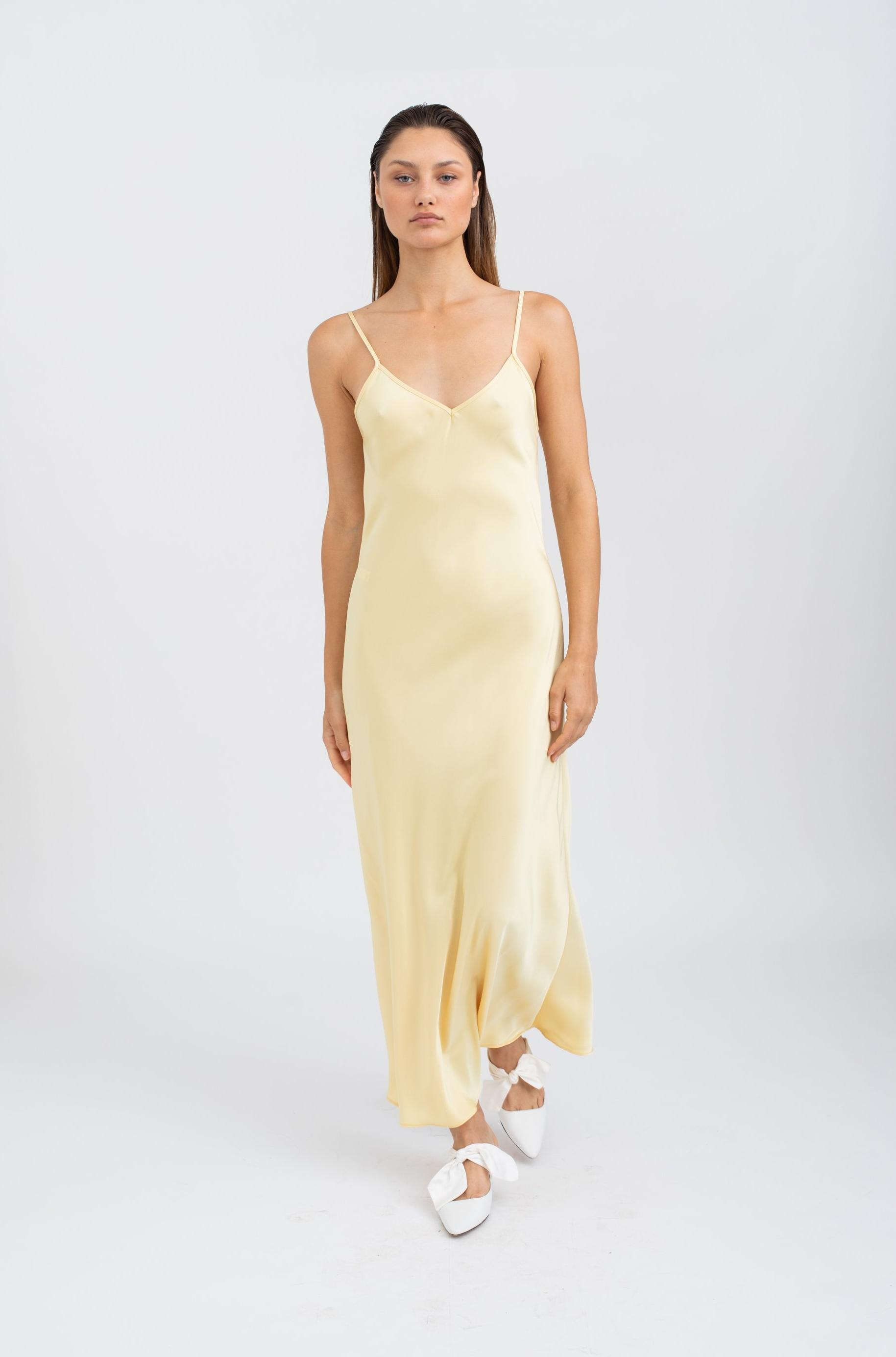 Moa Maxi Slip Dress - Yellow
