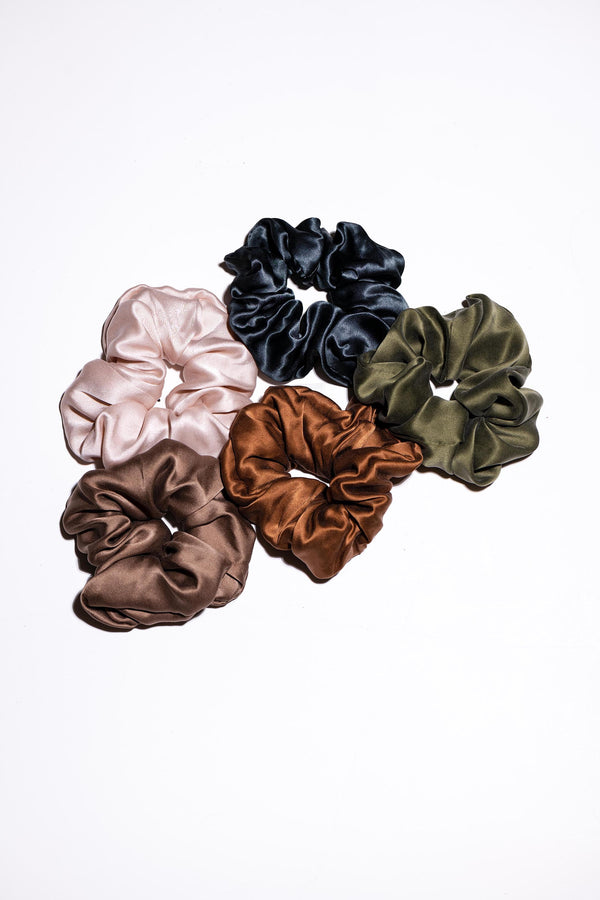 Silk Scrunchy - Coffee