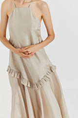 SIMONNE STONE SILK DRESS