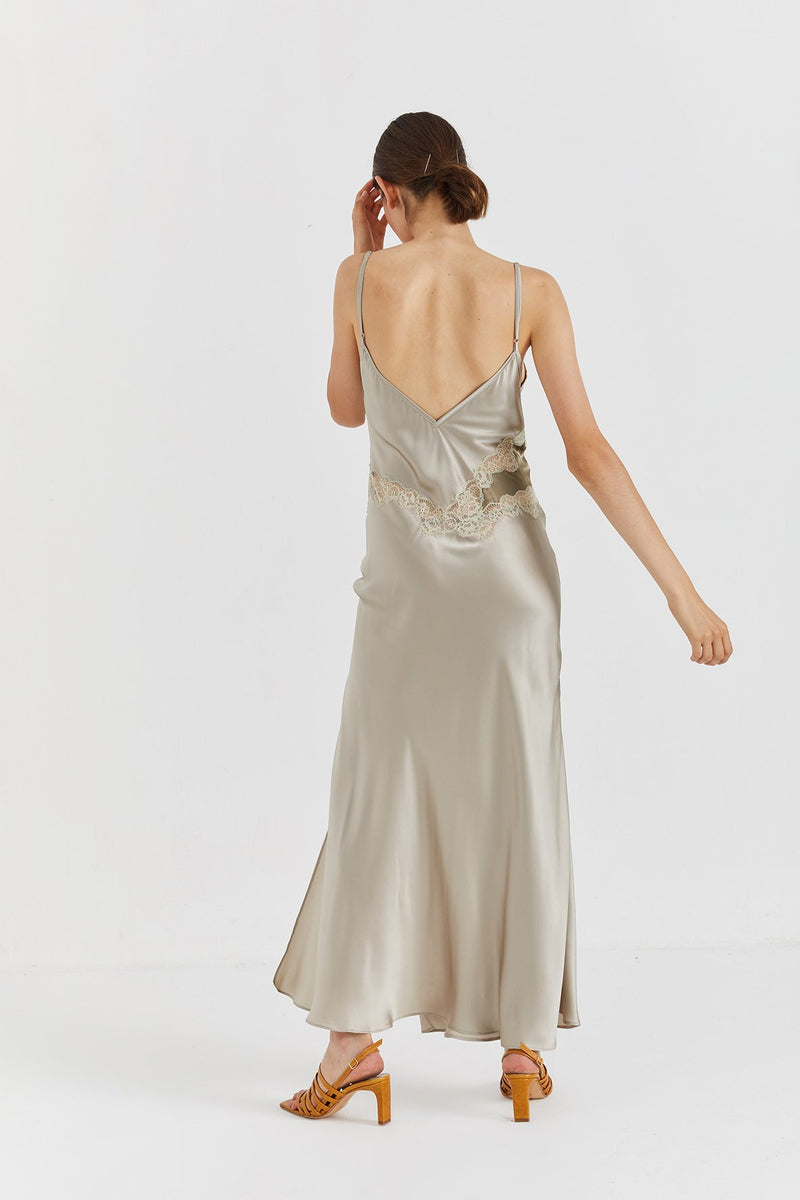 Jane Silk Dress - Champagne